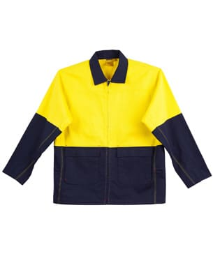 Yellow/Navy Hi-Vis Cotton Jacket