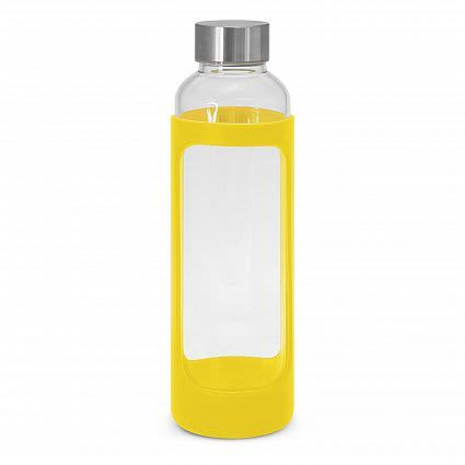 Yellow Aphrodite Glass Drink Bottle - Silicone Sleeve