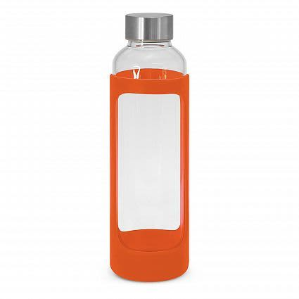 Orange Aphrodite Glass Drink Bottle - Silicone Sleeve