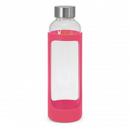 Pink Aphrodite Glass Drink Bottle - Silicone Sleeve