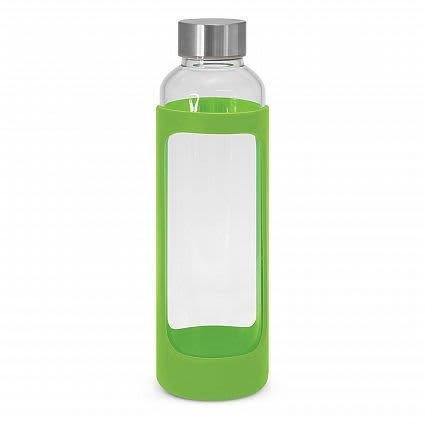 Bright Green Aphrodite Glass Drink Bottle - Silicone Sleeve