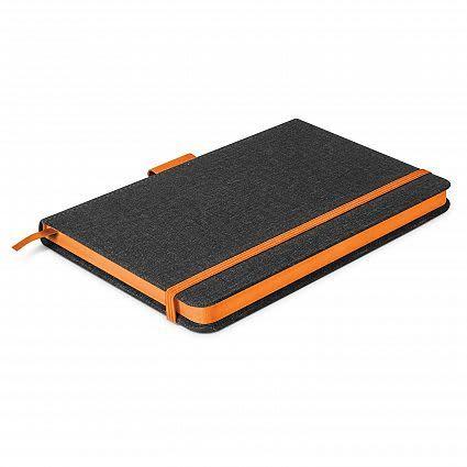 Charcoal/Orange Meridian Notebook - Two Tone