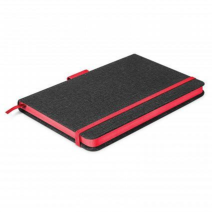 Charcoal/Red Meridian Notebook - Two Tone