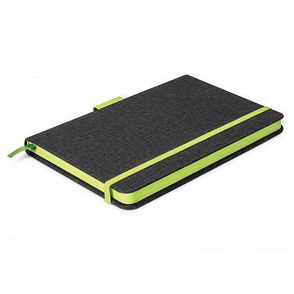 Charcoal/Bright Green Meridian Notebook - Two Tone
