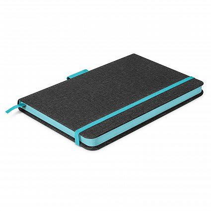 Charcoal/Light Blue Meridian Notebook - Two Tone