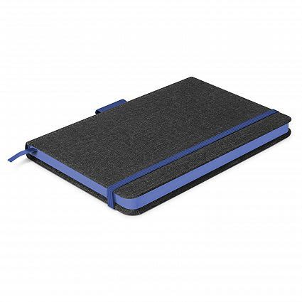 Charcoal/Dark Blue Meridian Notebook - Two Tone