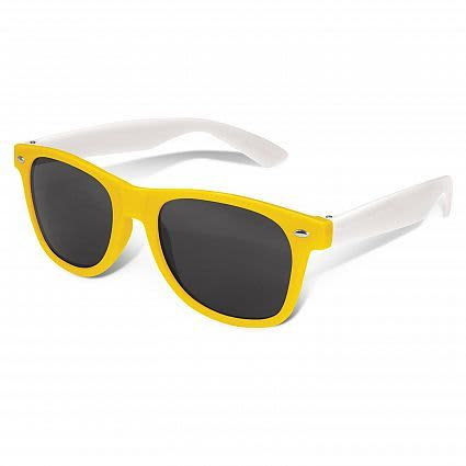Yellow Malibu Premium Sunglasses - White Arms