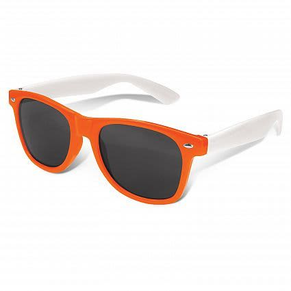 Orange Malibu Premium Sunglasses - White Arms