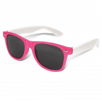 Pink Malibu Premium Sunglasses - White Arms