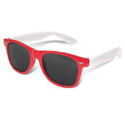 Red Malibu Premium Sunglasses - White Arms