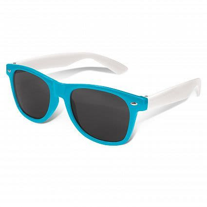 Light Blue Malibu Premium Sunglasses - White Arms