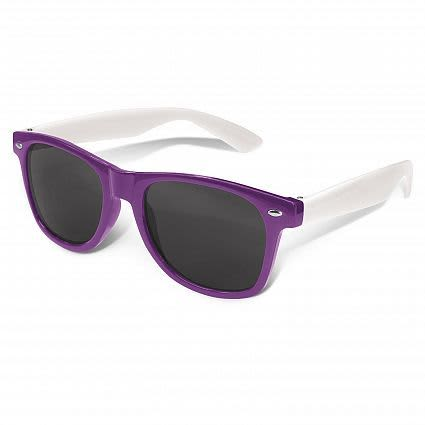 Purple Malibu Premium Sunglasses - White Arms