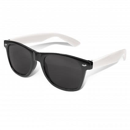 Black Malibu Premium Sunglasses - White Arms