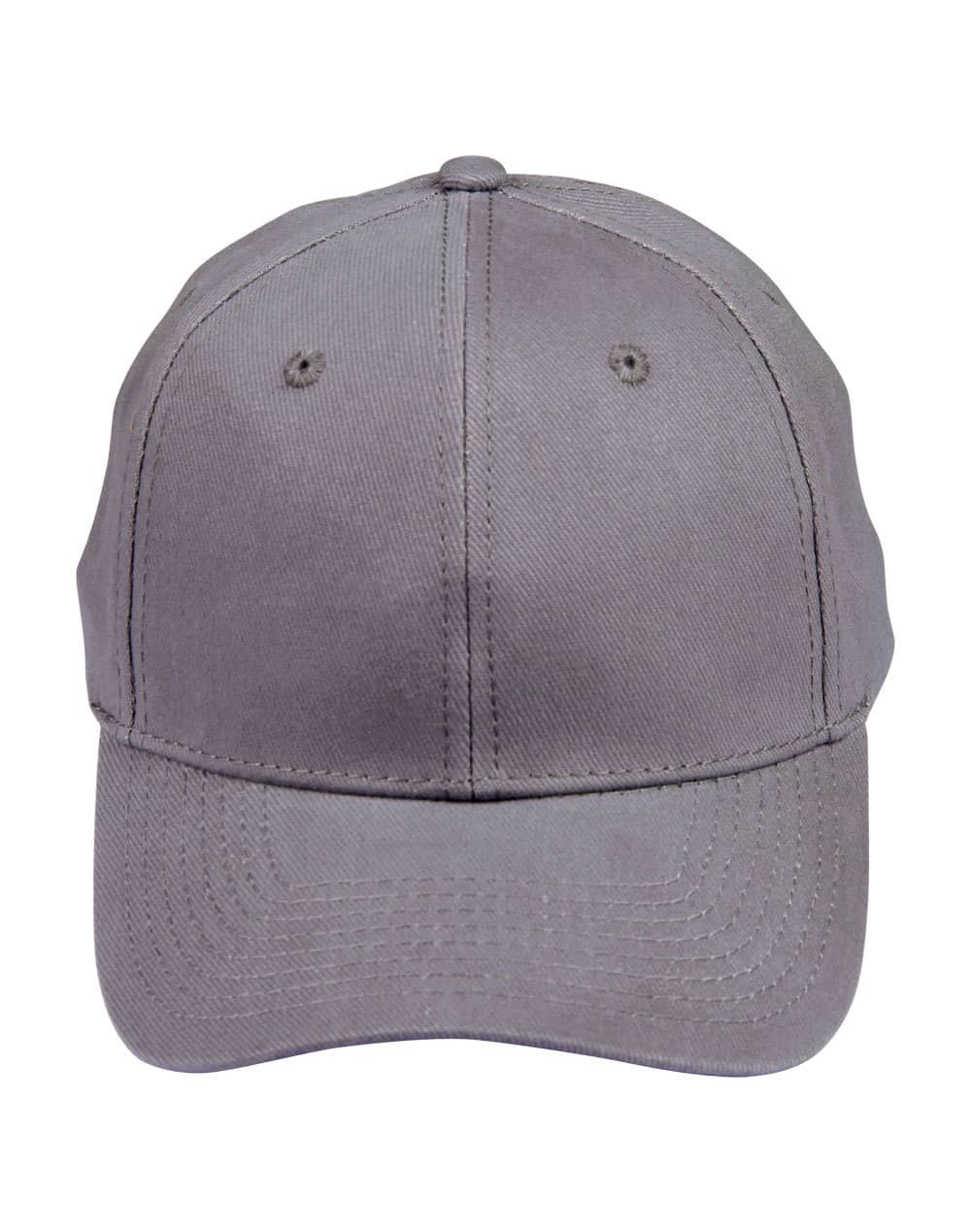Grey Heavy Brushed Cotton Cap