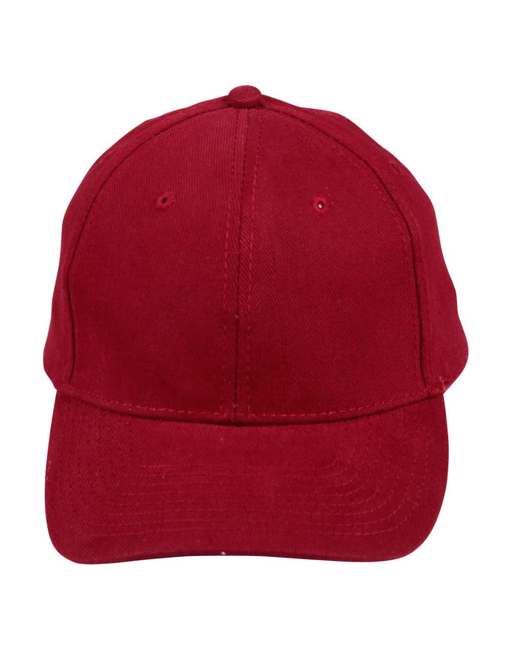 Maroon Heavy Brushed Cotton Cap