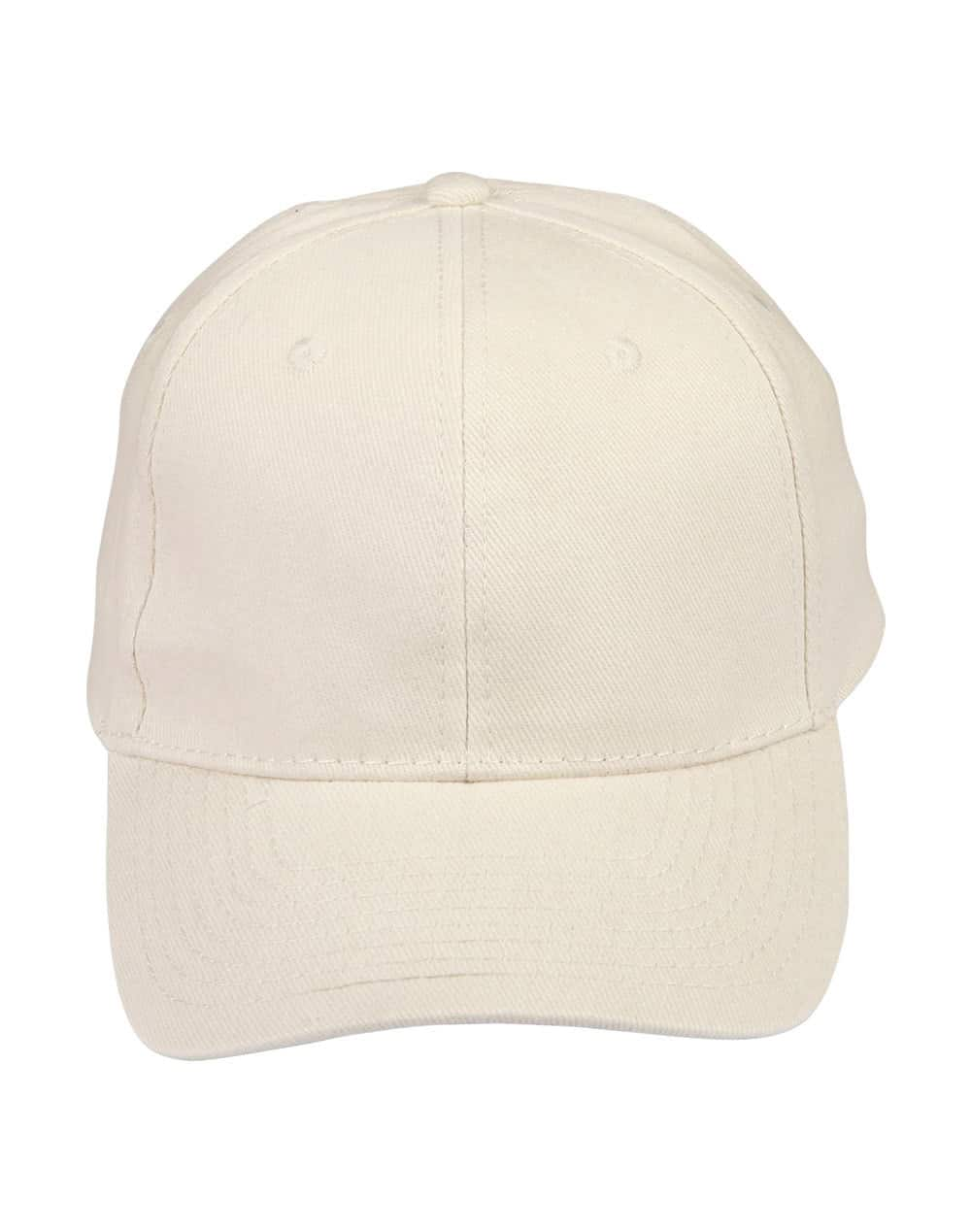 Natural Heavy Brushed Cotton Cap