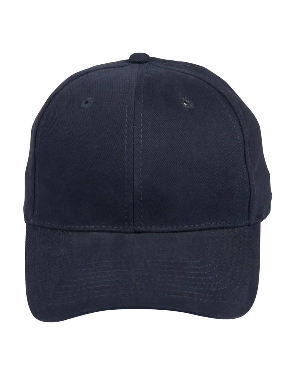 Navy Heavy Brushed Cotton Cap