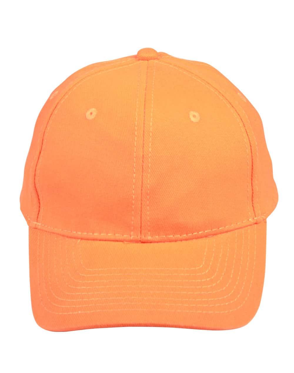 Orange Heavy Brushed Cotton Cap