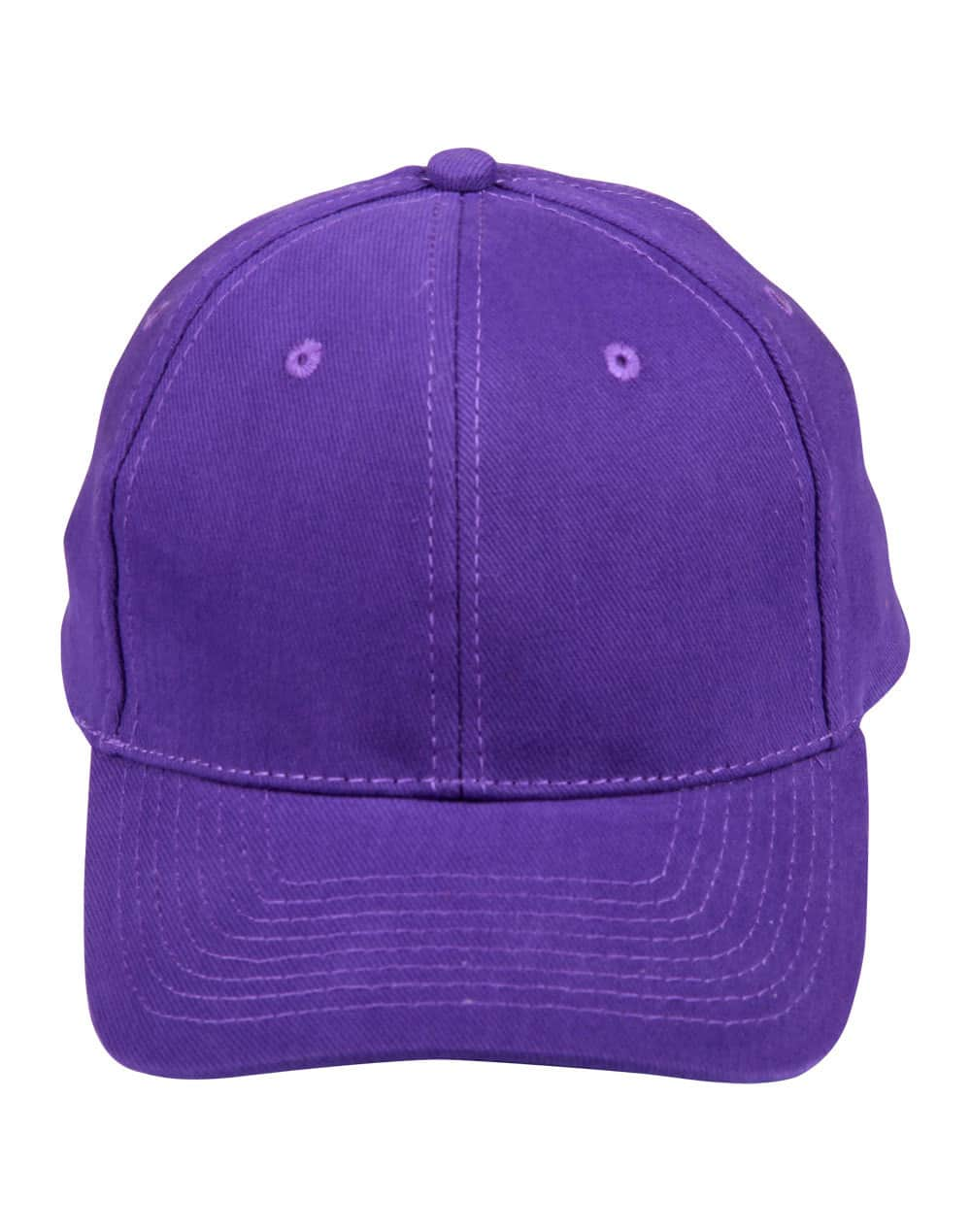 Purple Heavy Brushed Cotton Cap