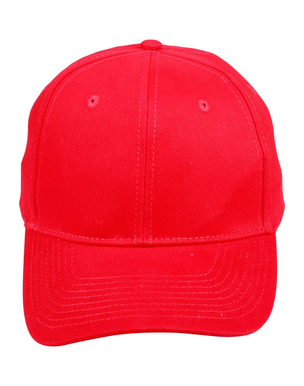 Red Heavy Brushed Cotton Cap