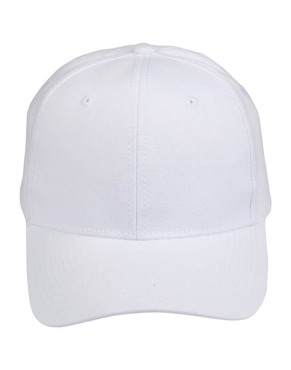 White Heavy Brushed Cotton Cap
