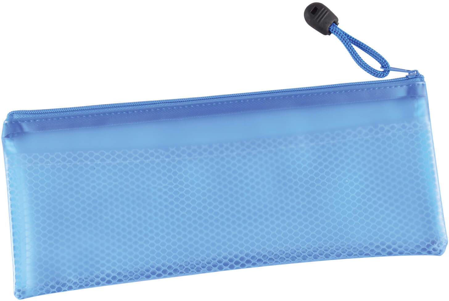 PVC Pencil Case with Zipper and Mesh Divider