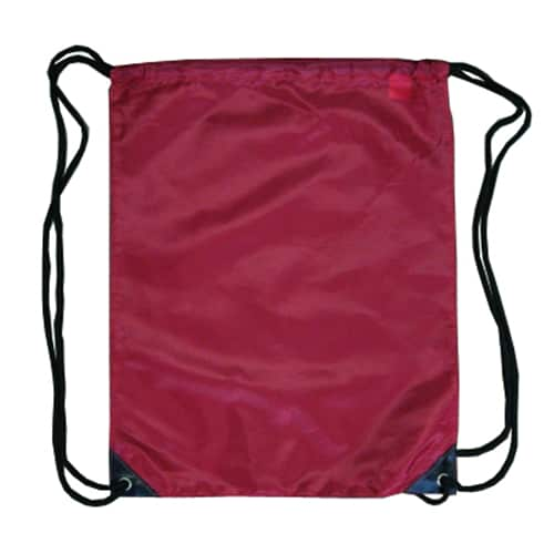Maroon Nylon Drawstring Backsack