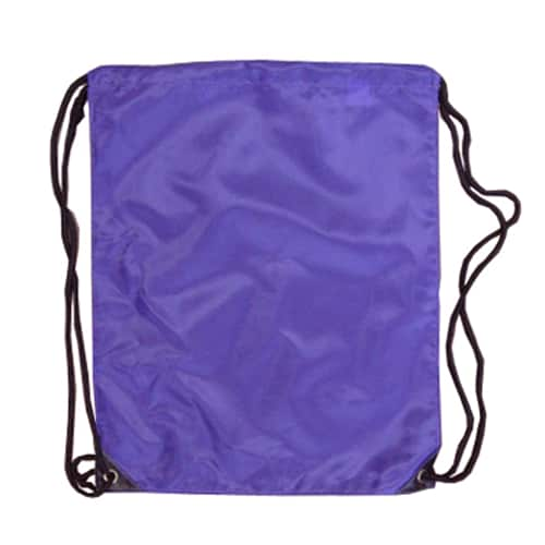 Purple Nylon Drawstring Backsack