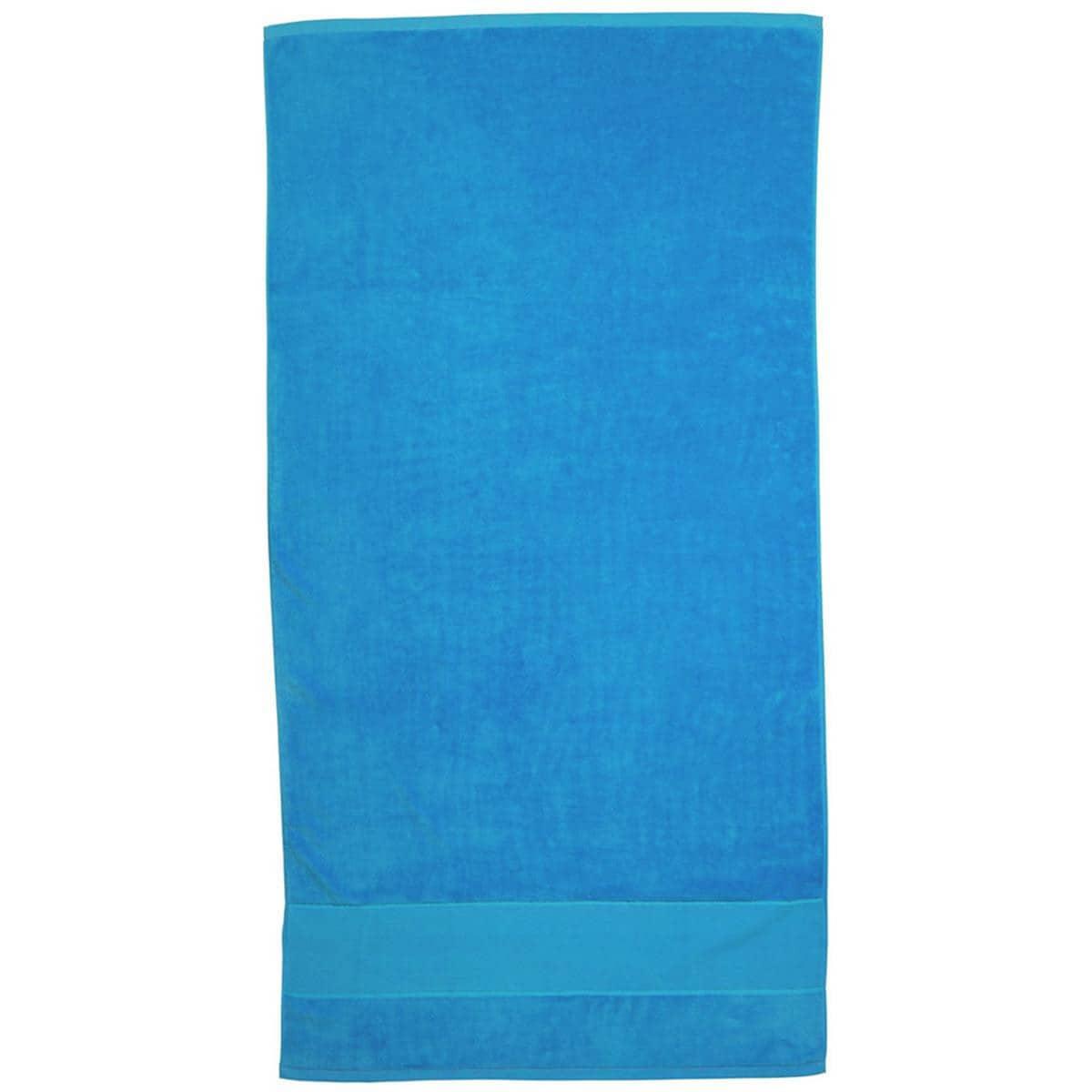 Aqua Super Soft Touch Towel Custom Printed