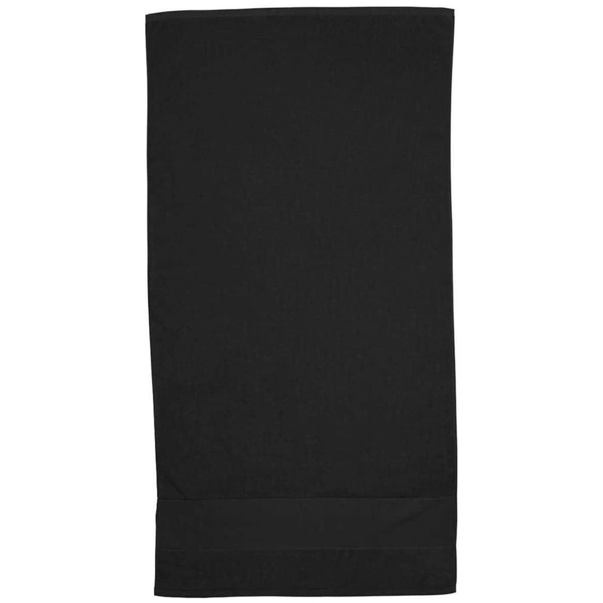 Black Super Soft Touch Towel Custom Printed