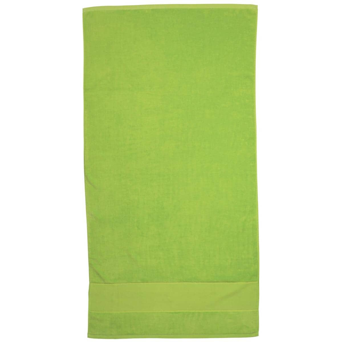 Lime Super Soft Touch Towel Custom Printed