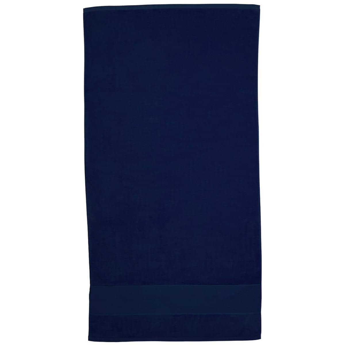 Navy Super Soft Touch Towel Custom Printed