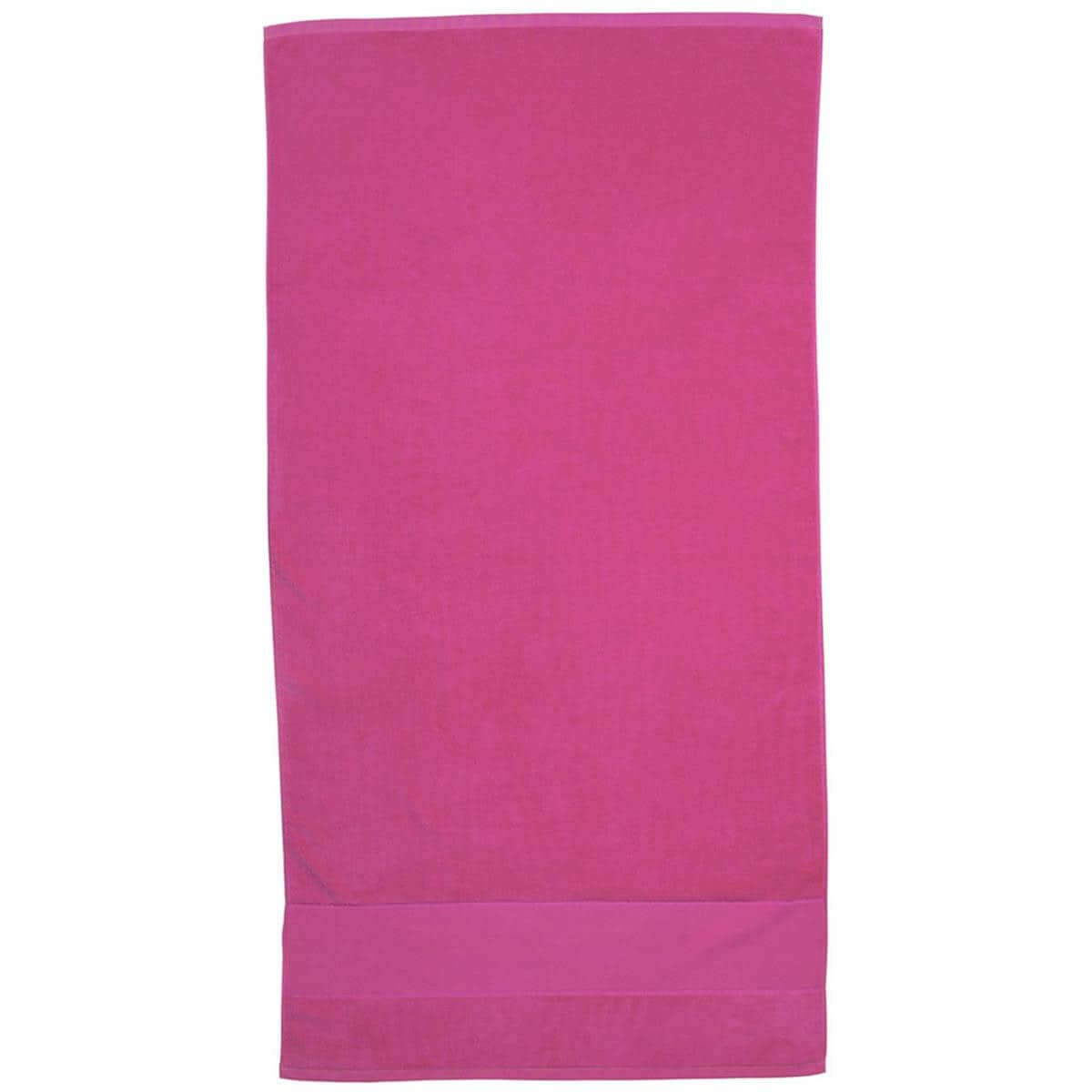 Pink Super Soft Touch Towel Custom Printed