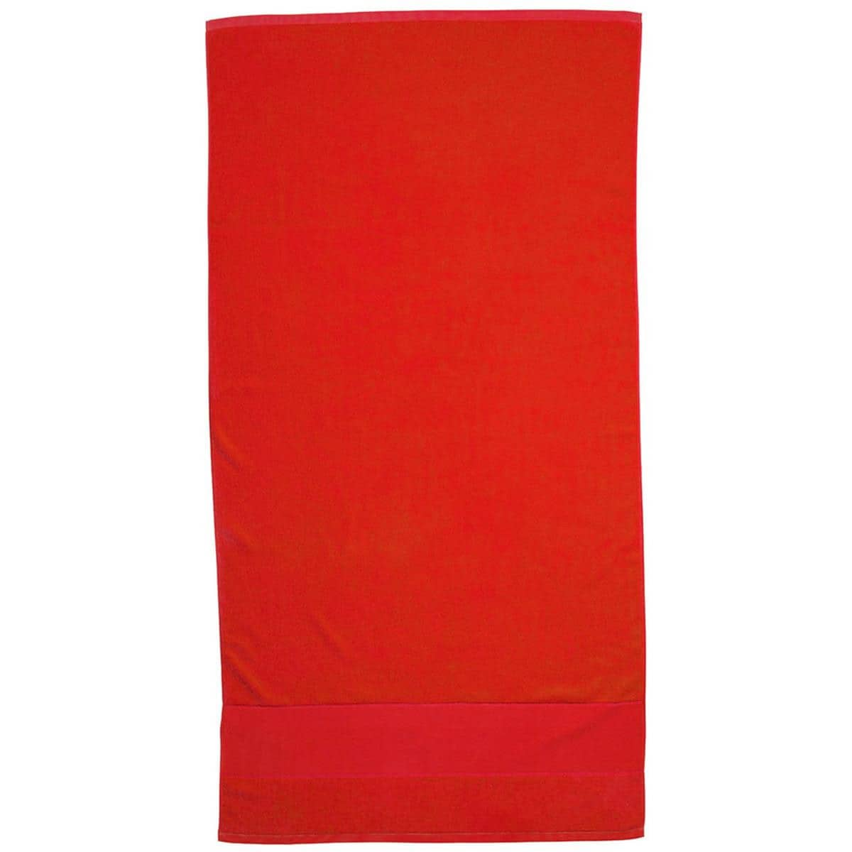 Red Super Soft Touch Towel Custom Printed