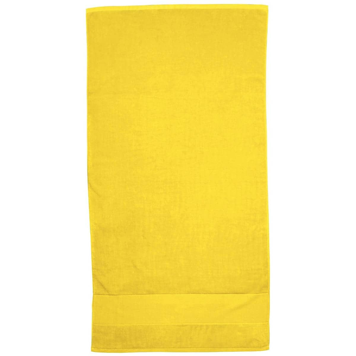 Yellow Super Soft Touch Towel Custom Printed