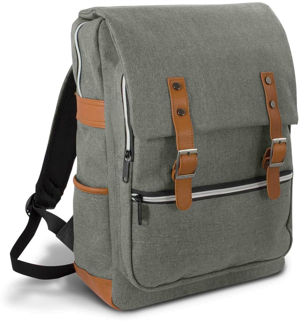 Grey/Brown Cobain Laptop Backpack