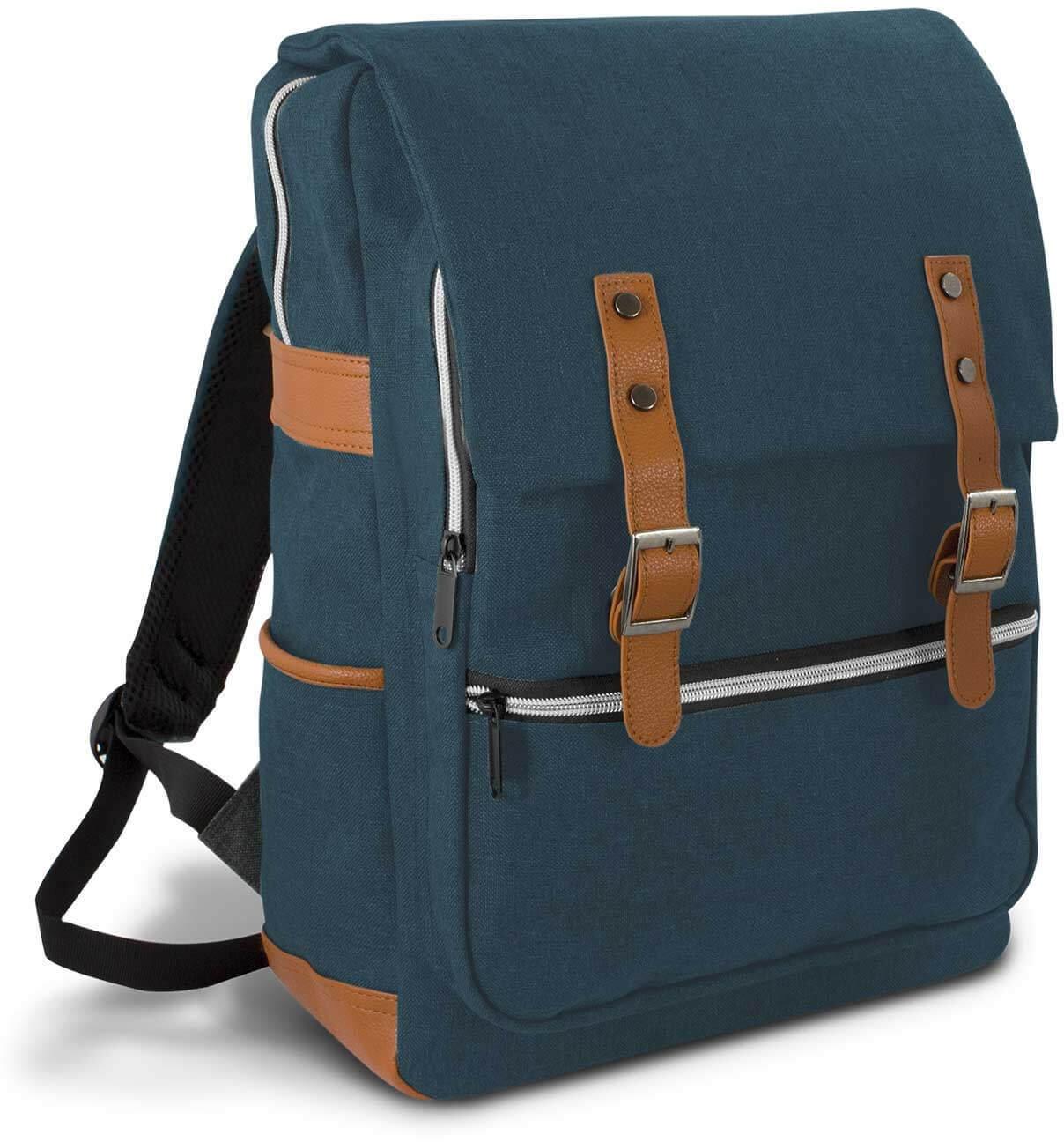 Navy/Brown Cobain Laptop Backpack