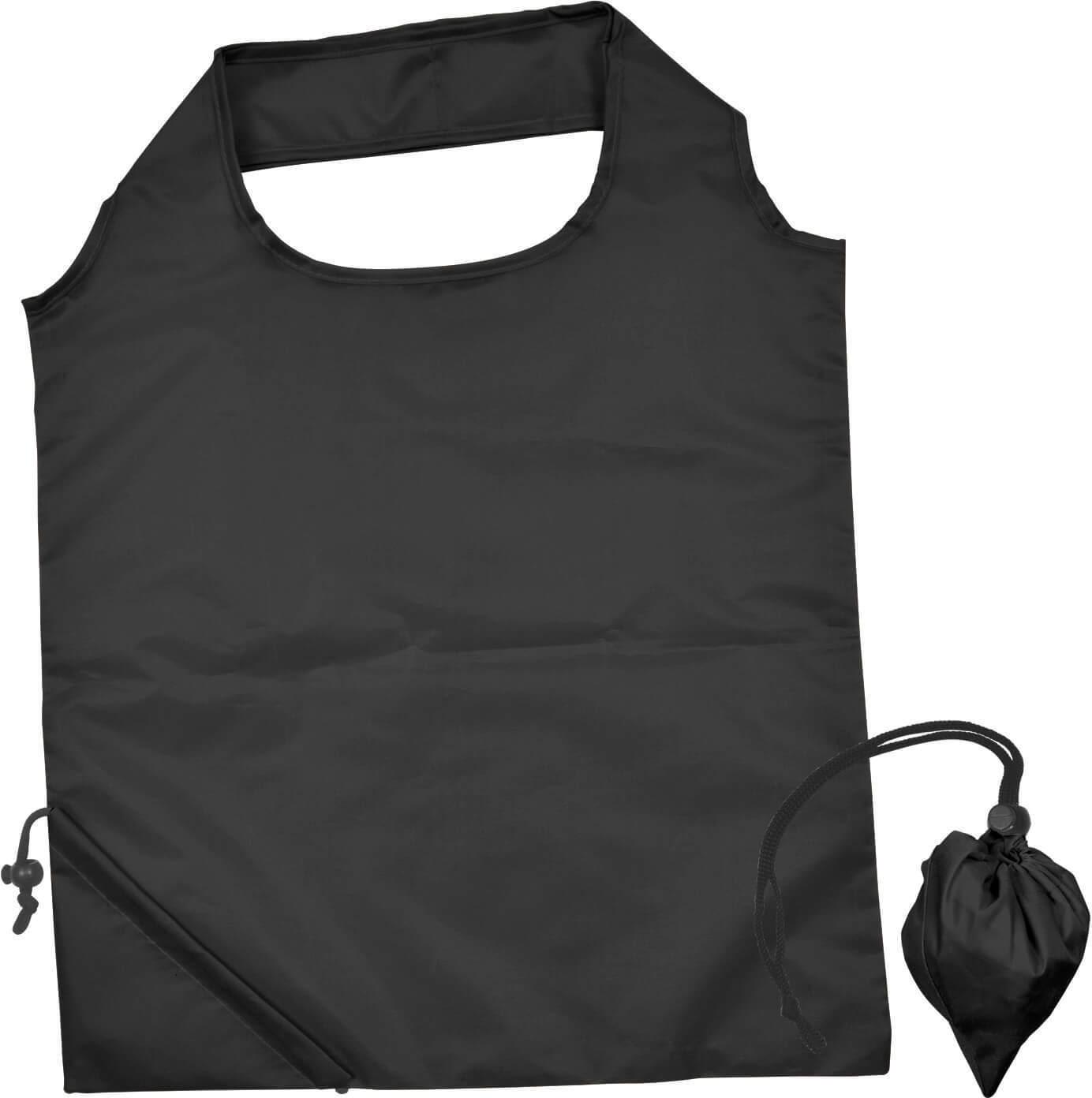 Black Folding Polyester Shopping Bag