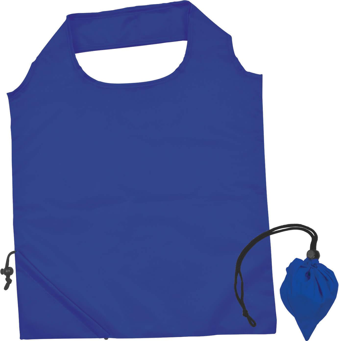 Dark Blue Folding Polyester Shopping Bag