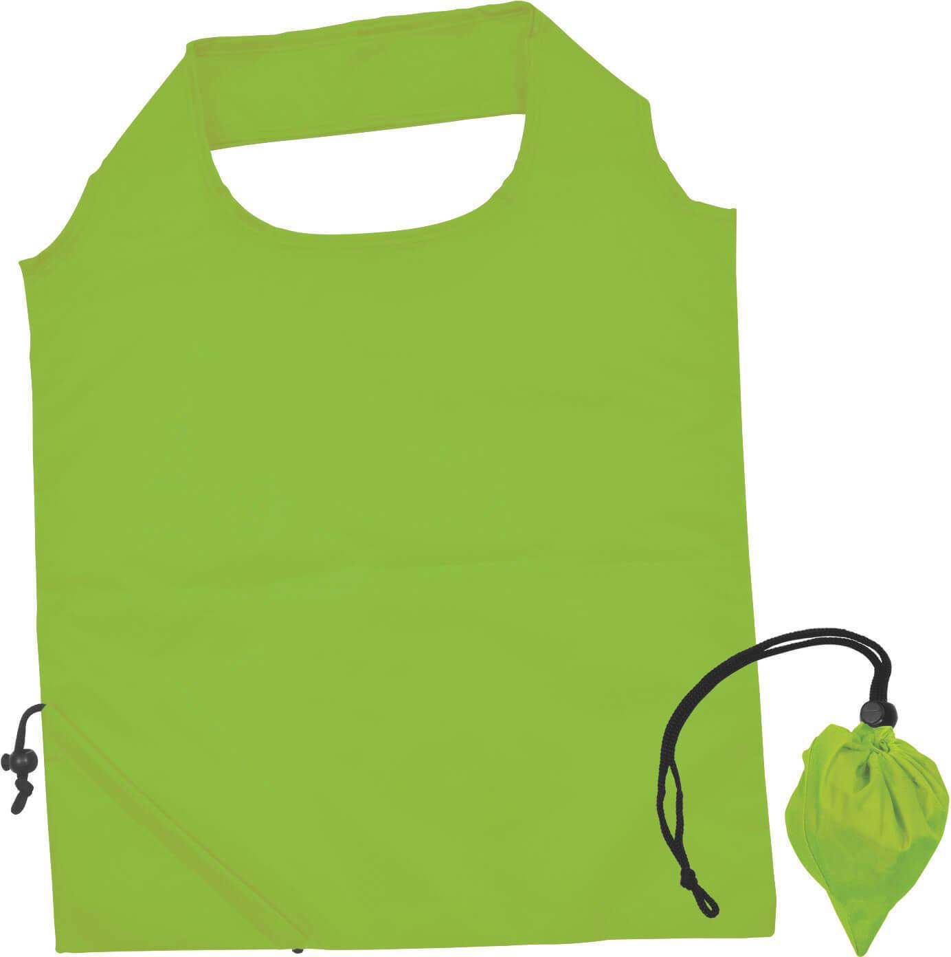 Light Green Folding Polyester Shopping Bag