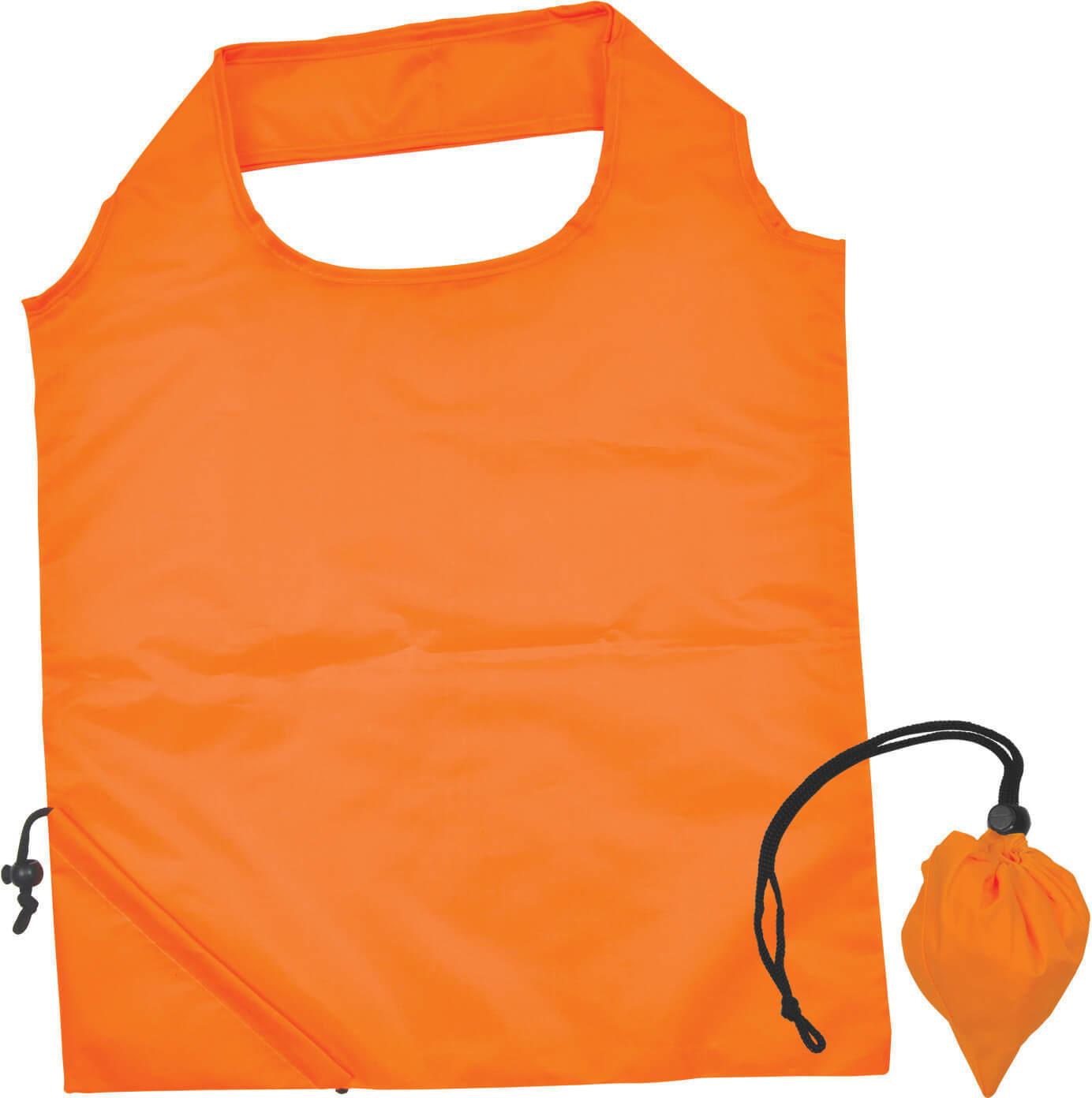 Orange Folding Polyester Shopping Bag