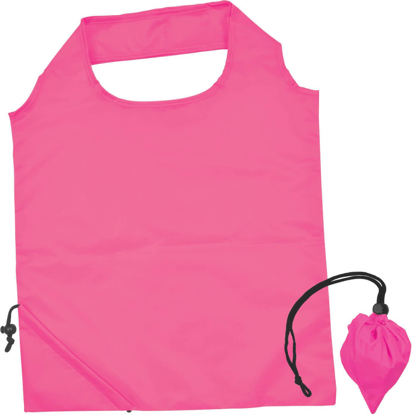 Pink Folding Polyester Shopping Bag