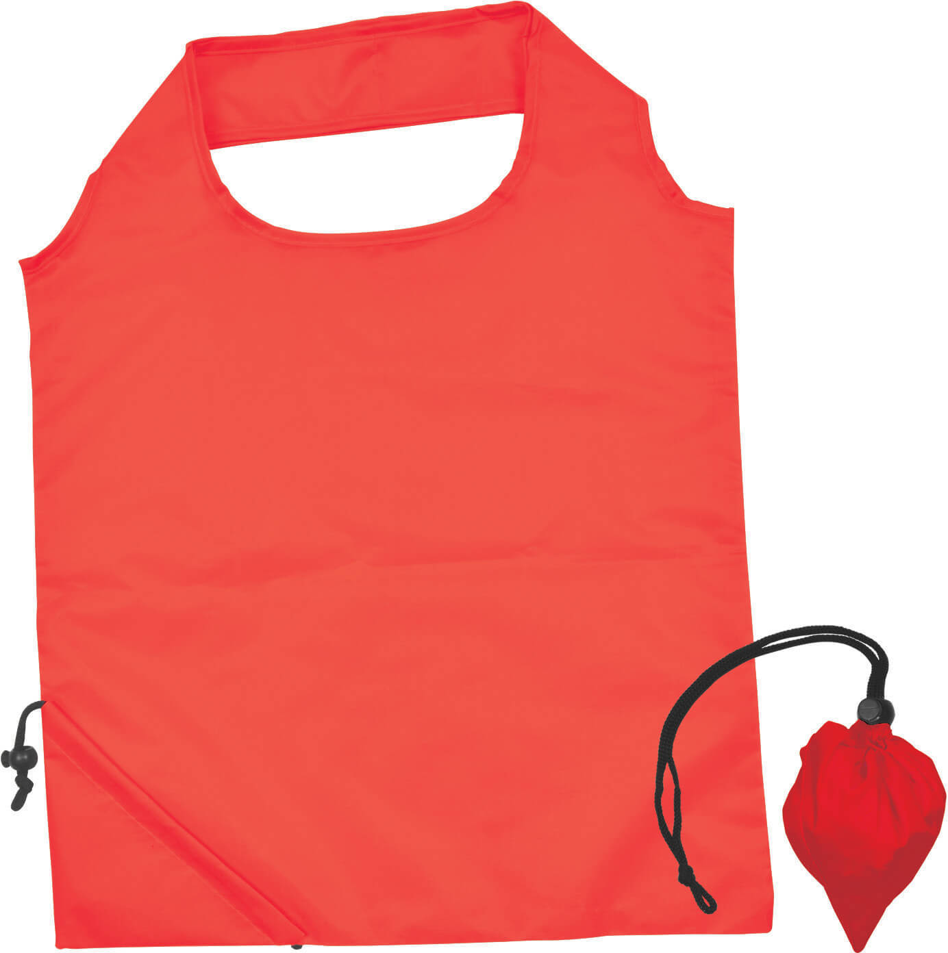 Red Folding Polyester Shopping Bag