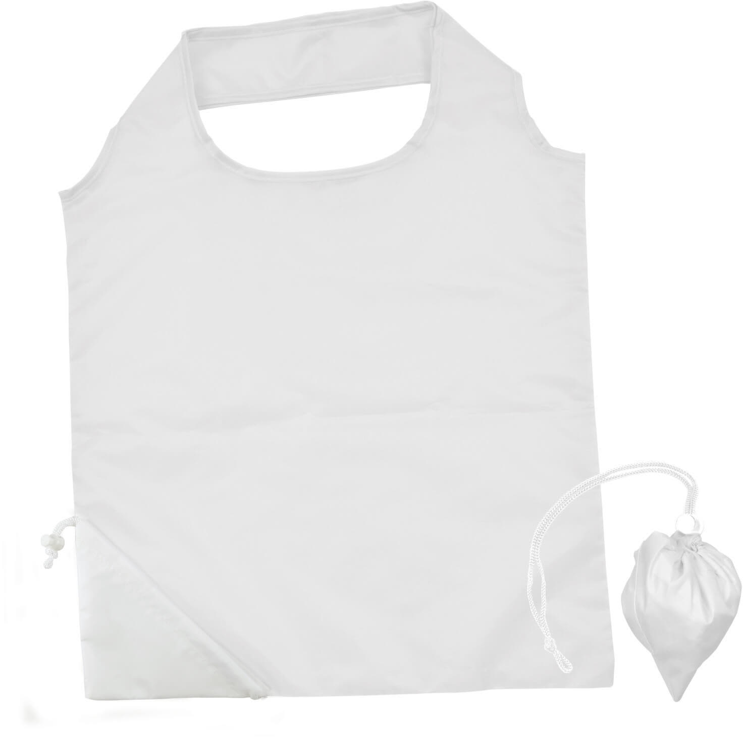 White Folding Polyester Shopping Bag