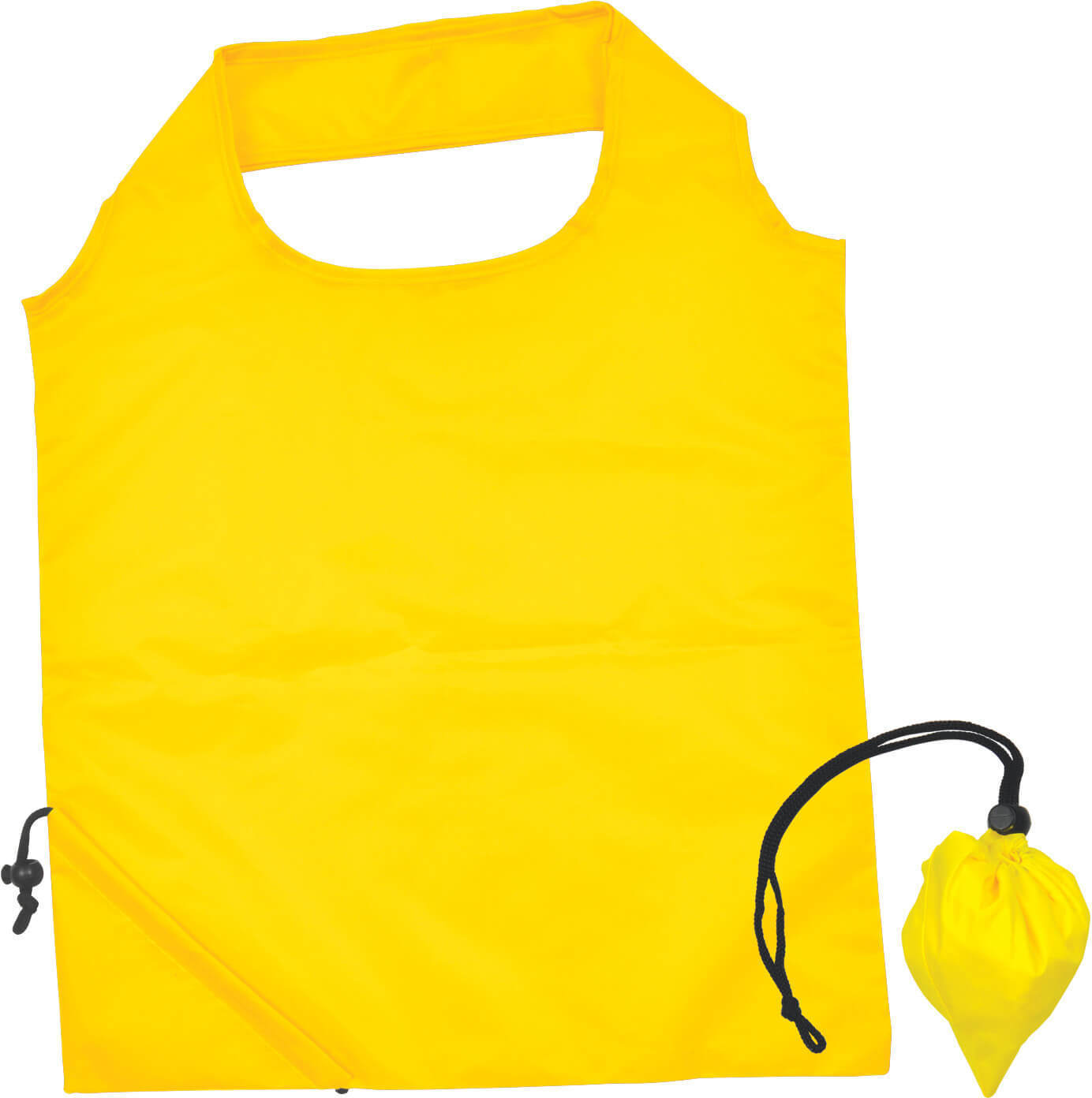 Yellow Folding Polyester Shopping Bag
