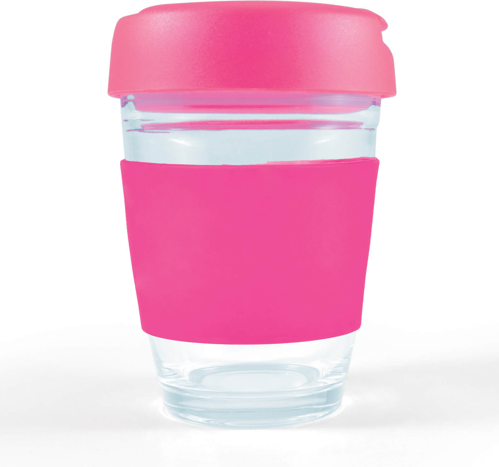 Pink Vienna Glass Coffee Cup / Flip Lid