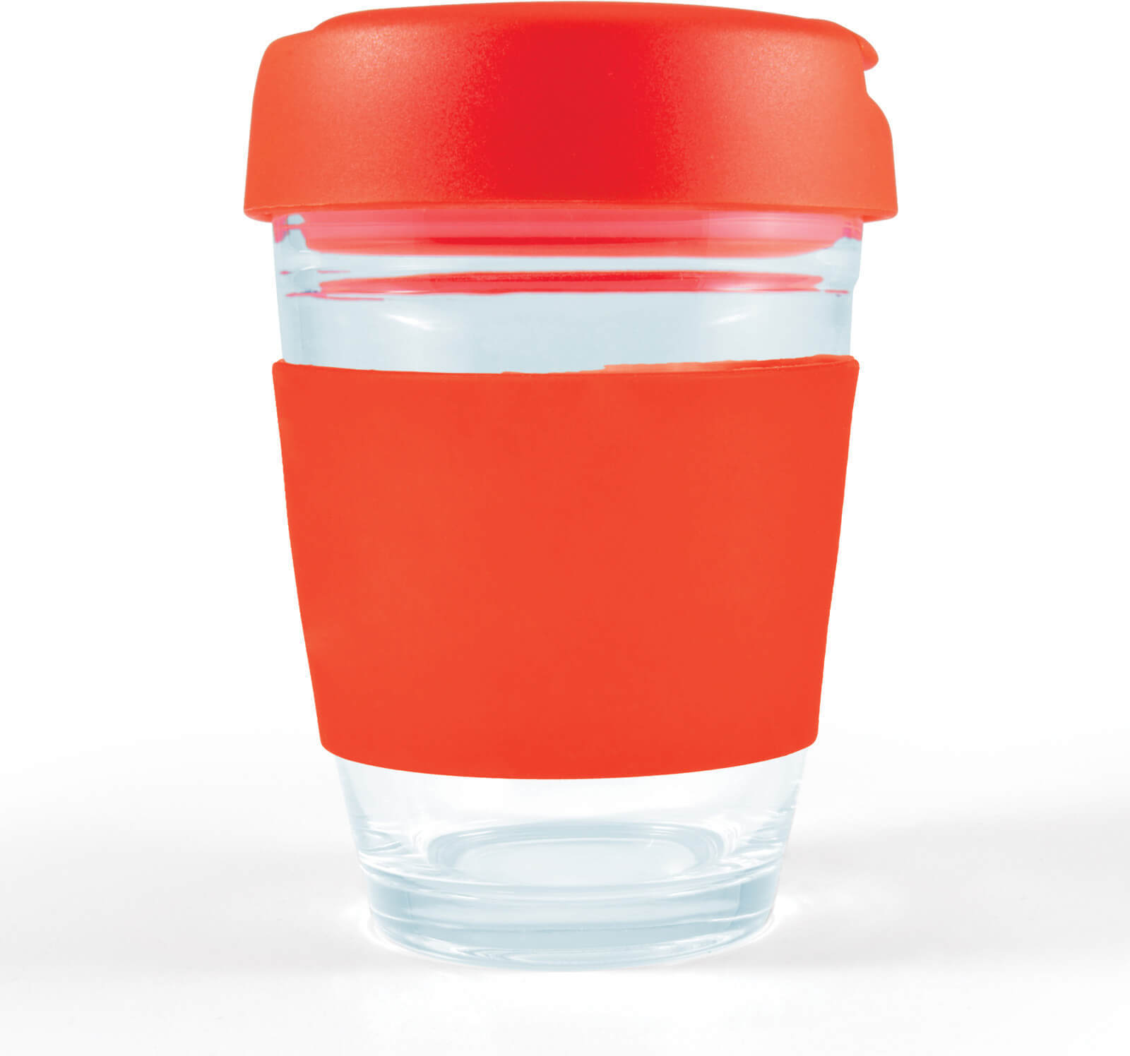 Red Vienna Glass Coffee Cup / Flip Lid