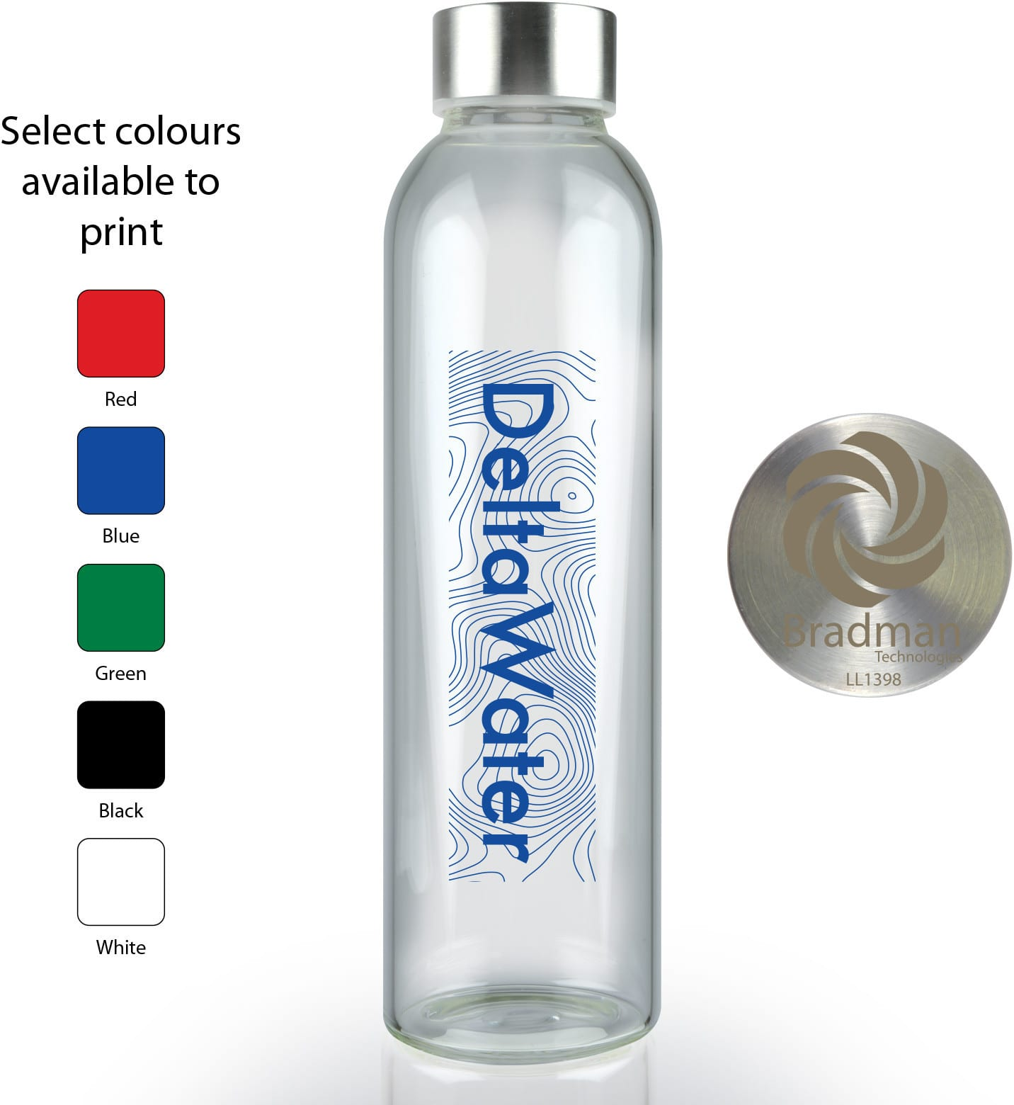 Caprice 570 ml Glass Drink Bottle - Crystal Clear