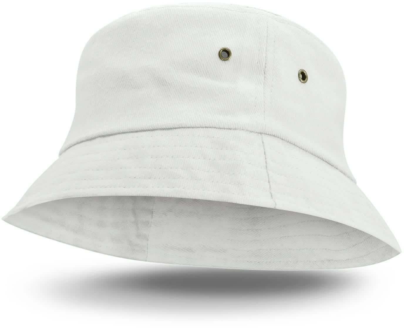 White Bondi Premium Bucket Hat