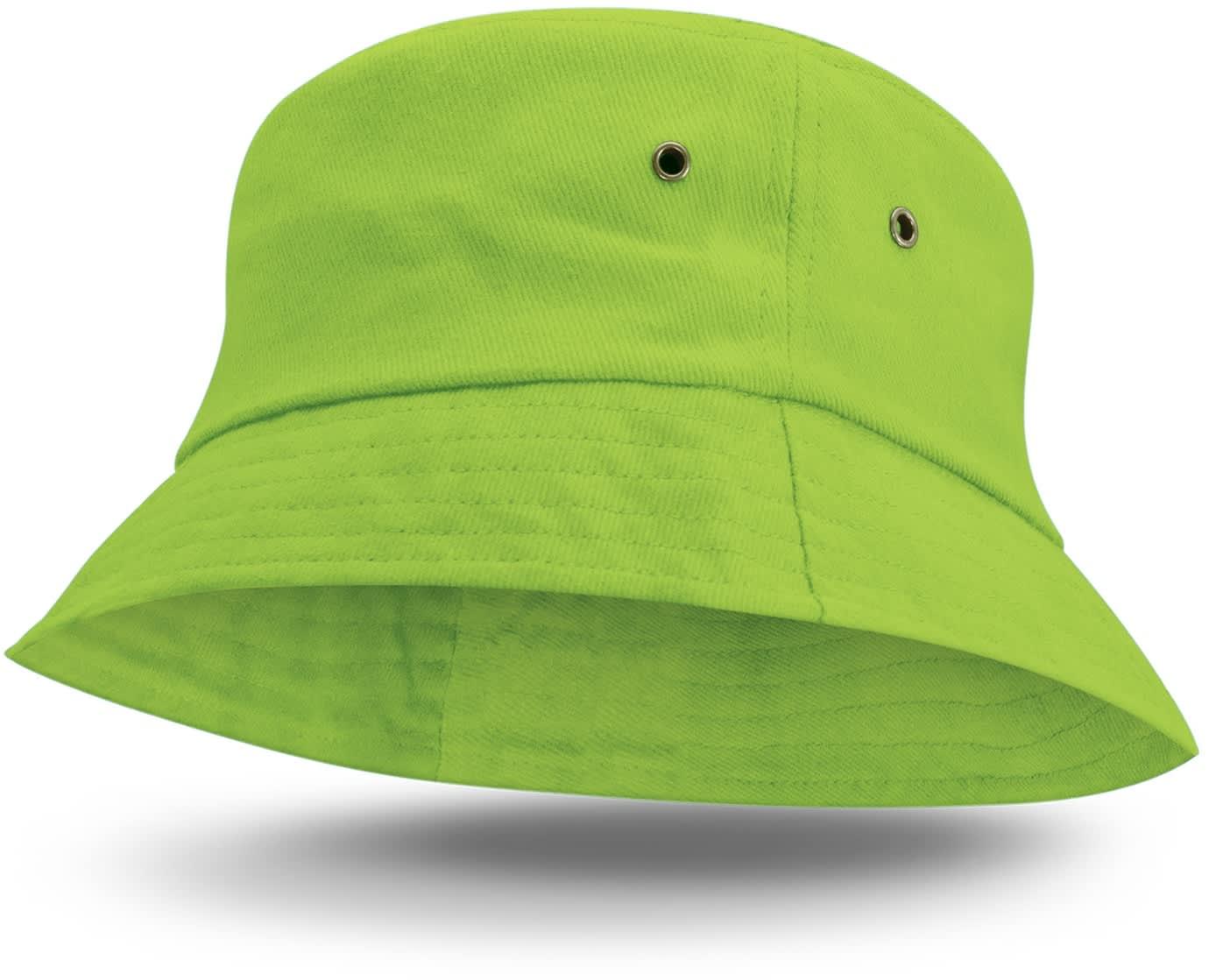 Bright Green Bondi Premium Bucket Hat